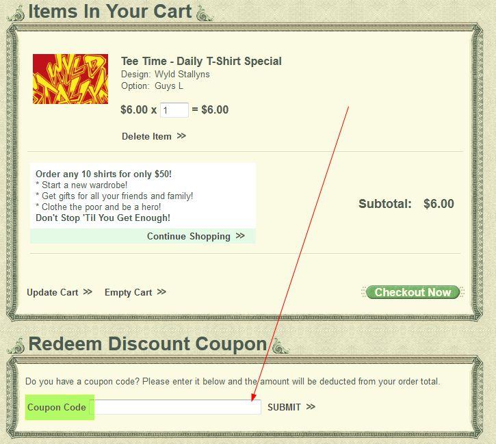 6dollarshirts coupon code