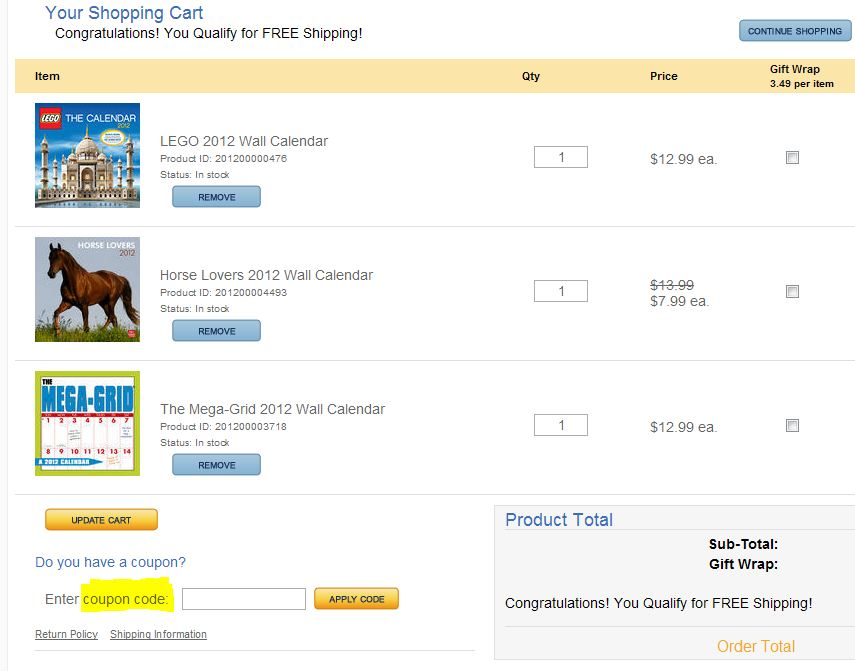 coupon instructions how where to enter promo codes for specific