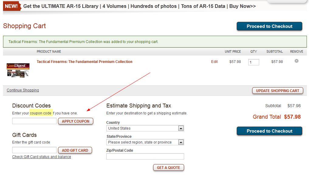 Gun digest store coupon code / Namecoins coupons