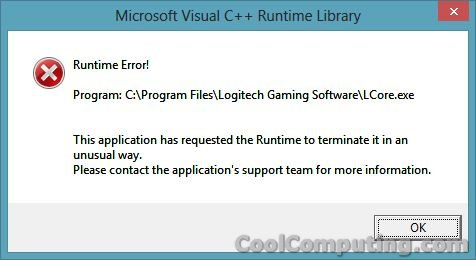 Fixed - Logitech Gaming Software 8 40 83 Runtime Error | CoolComputing