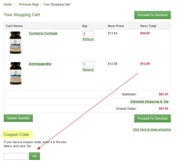 OrganicIndiaUSA.com coupon promo code printable instructions