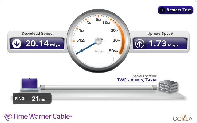 t speed test