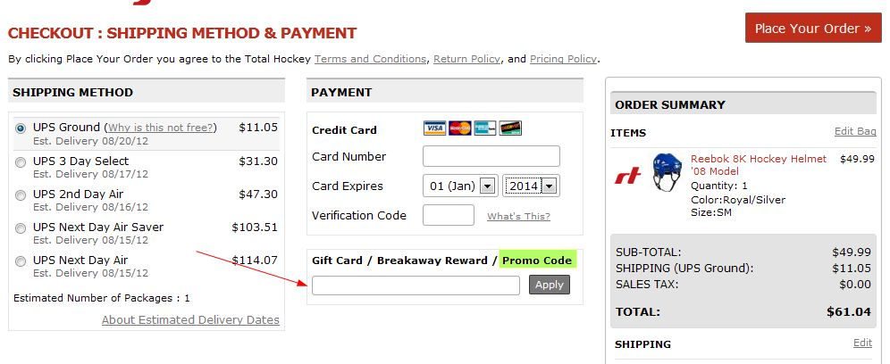 Total hockey discount coupons