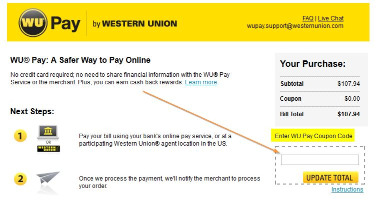 Western union coupons 50 off