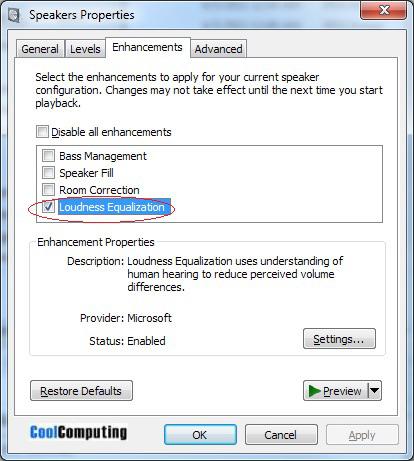 YouTube Normalize Audio in Windows 7 | CoolComputing