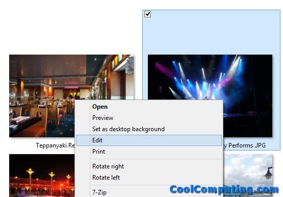 Windows Context Menu Image Edit Change Default to Picasa | CoolComputing