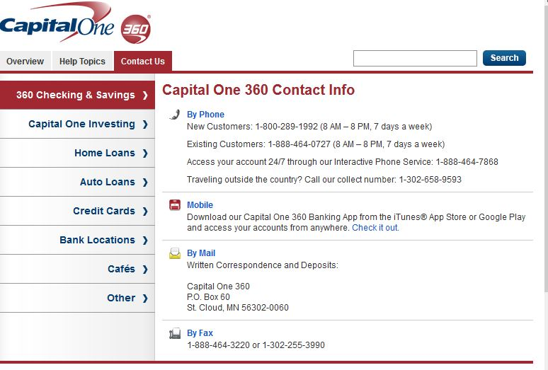 Capital One 360 Reviews 6 Feedbacks & Discussions